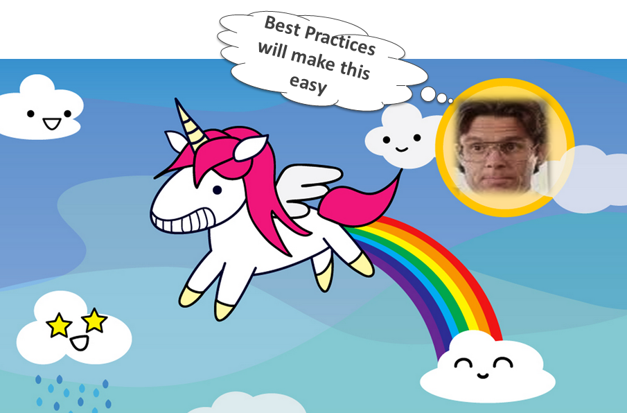 Best practices are like Unicorns. They sound great, but don't really exist.