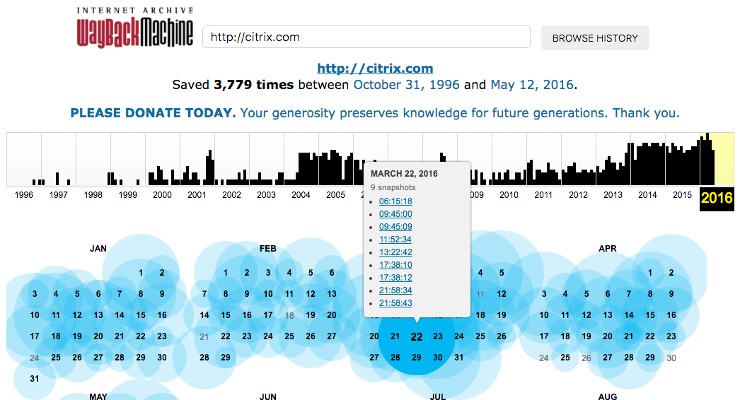 The Internet Archive brings you the tool Wayback Machine which lets you see how a website appeared on a particular date.