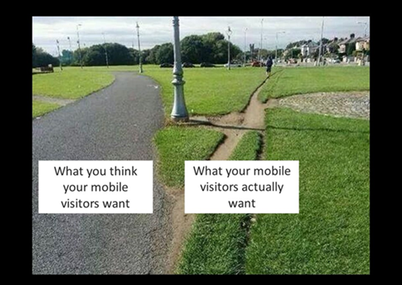 Your mobile visitors will cut their own path to a solution. Will that path include your mobile website?
