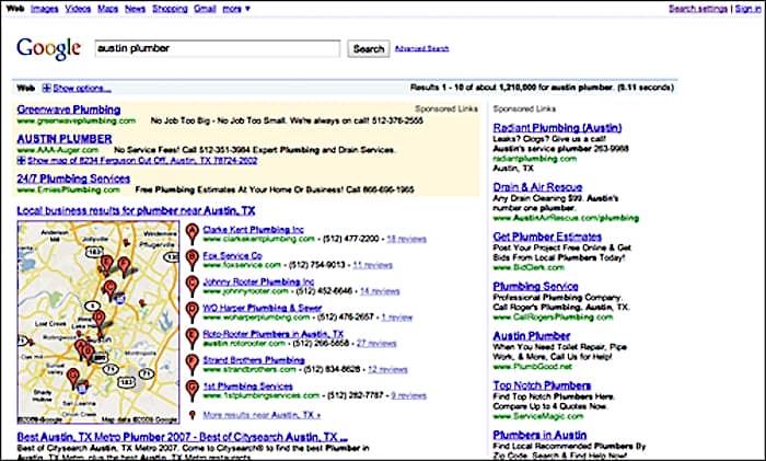 Austin plumber - Conversion and Google Maps optimization.
