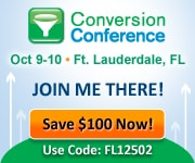 Conversion Conference Ft. Lauderdale I'm doing the Keynote