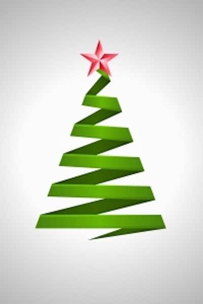 christmas tree to celebrate the 12 days of chrostmas