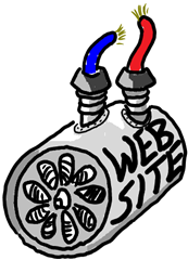 website with wires drawing