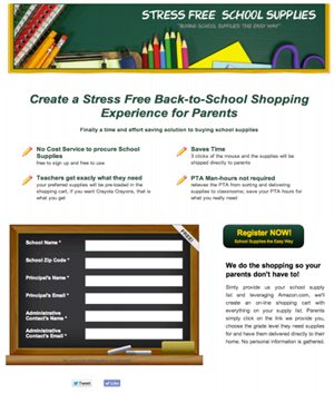 Stress Free School Supplies Page