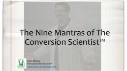 Title Slide - Nine CRO Mantras