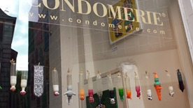 The front window of the Condomerie
