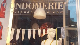The left window of the Condomerie is about size and fit.