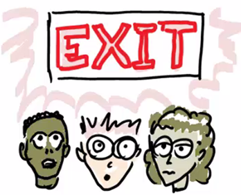 Why are so many visitors drawn to the exit?