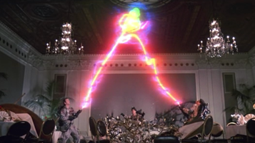 Ghostbusters capture a ghost.