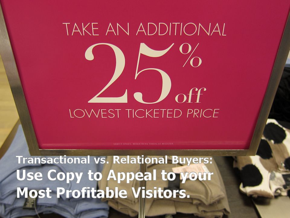 Use copy to appeal to your most profitable visitors.