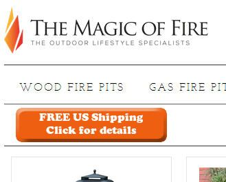 Magic of Fire sitewide free shipping offer.