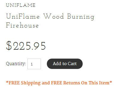 Magic of Fire free shipping offer on the Product Page.