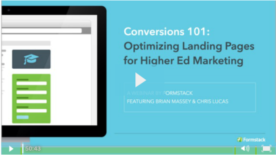 Conversion 101: Optimizing Landing Pages for Higher Ed Marketing
