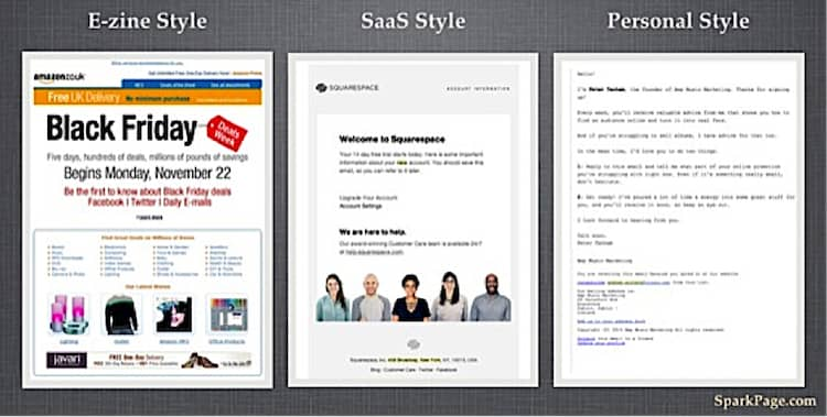 welcome email tests - stylized versus simple email design