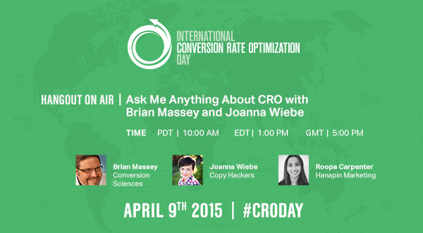CRO Day Ask Me Anything with Joanna Wiebe and Brian Massey