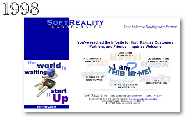 Soft Reality Home Page from 1998