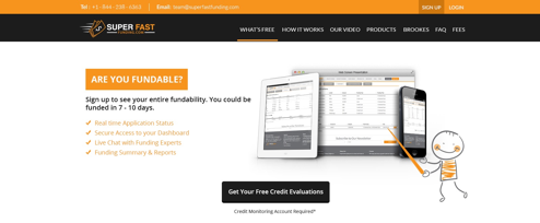 Super Fast Funding original website