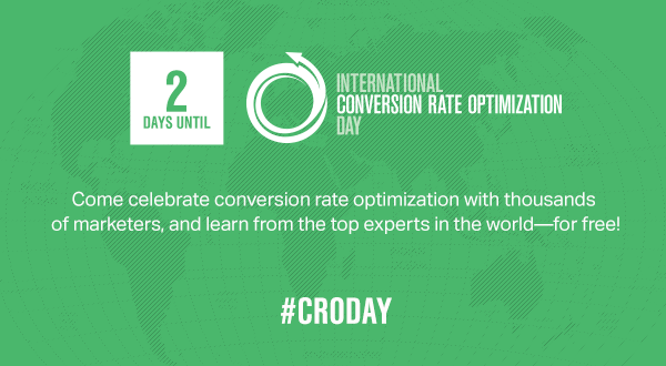 Two days until International Conversion Rate Optimization Day