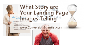 What story are your landing page images telling?