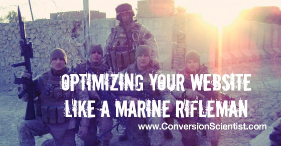 optimizing your website like a marine rifleman