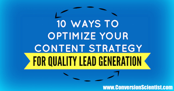10 ways to optimize your content strategy