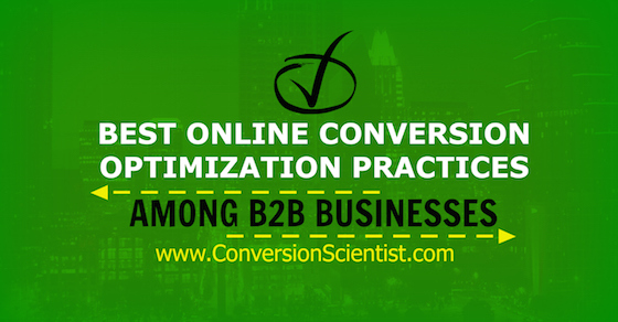 Best Online Conversion Optimization Practices Among B2B Businesses