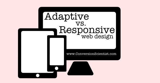 adaptive vs responsive web design feature image