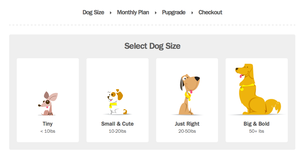 Barkbox's visual tactic leading you to the sale