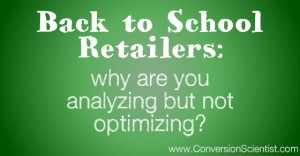 Analyzing but not optimizing