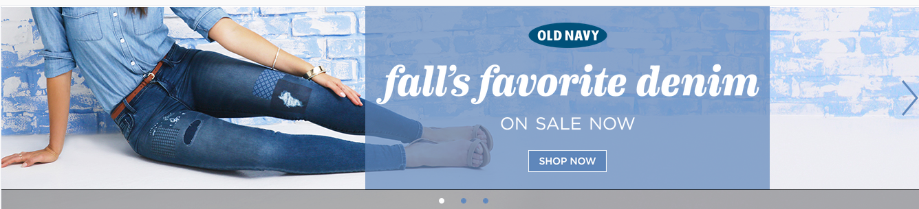 Old Navy appeals to your sense of belonging by being trendy yet accessible