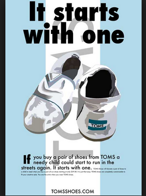 Toms Shoes has an altruistic trigger
