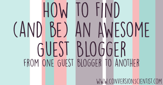 how to find and be an awesome guest blogger feature image