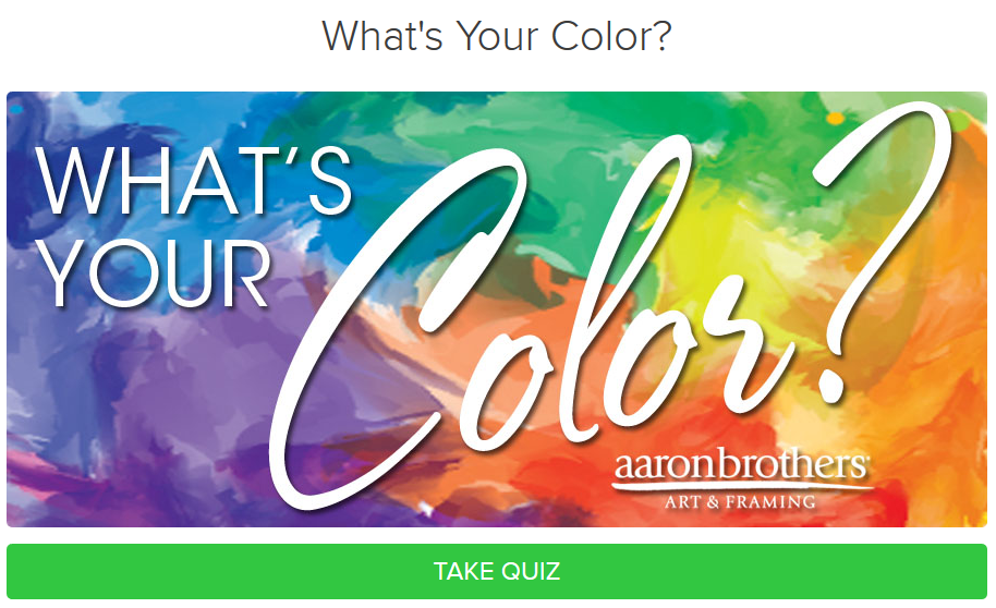 aaron brothers color quiz