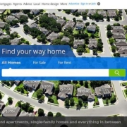 AB testing landing pages message: Zillow's background showing homes with their prices isn't relevant to people looking for rental property. Especially with a message at the bottom of the page specifically written for renters.