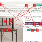 "World Market Eye Tracking: The click target is ""closer"" to where the eyes -- and mouse -- are likely to be on this page."