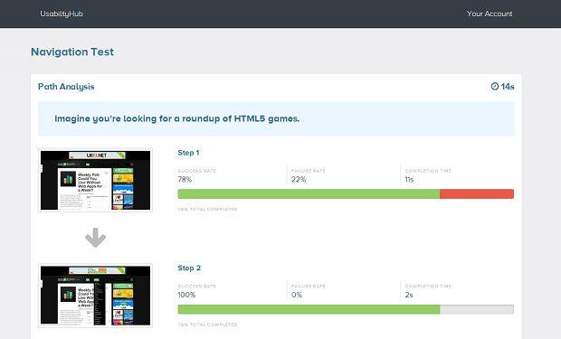 User testing platform UsabilityHub Screen Capture