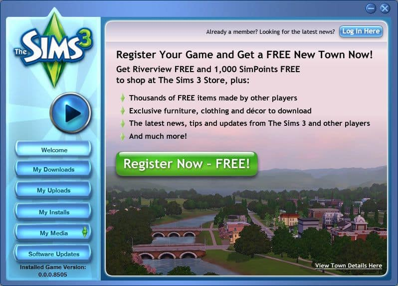This version of the Sims 3 launch page performed best
