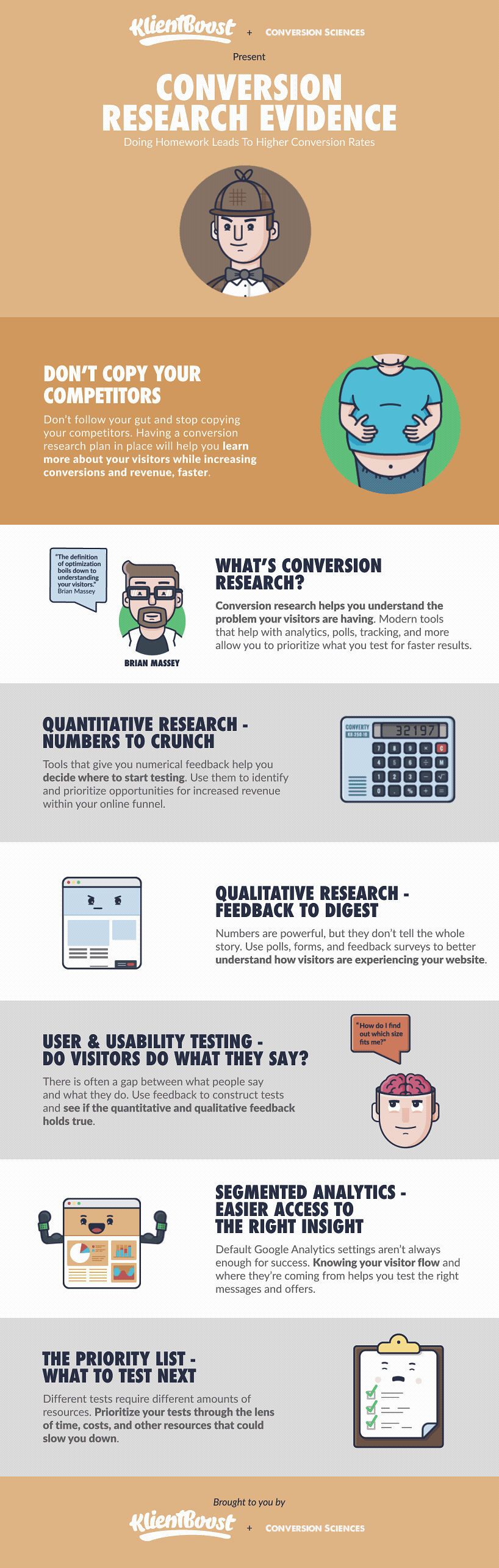Conversion Research Evidence with Klientboost Infographic