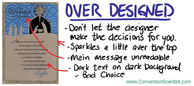 Don't let your designer make the decisions.
