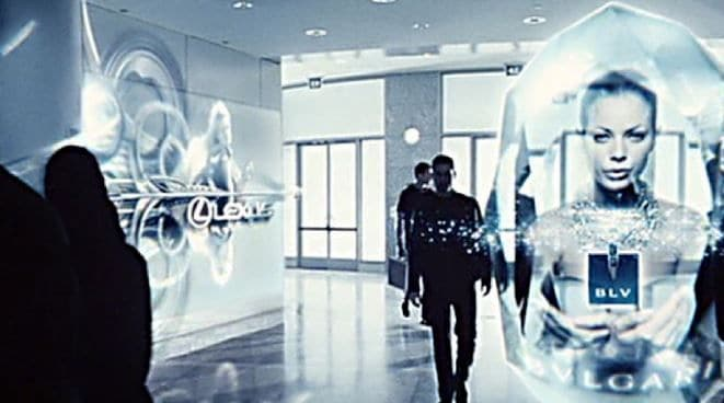 The movie Minority Report showed an extreme example of contextual marketing