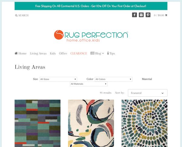 Rug perfection doesn't flaunt its amazing story or its fantastic shipping and return policy.