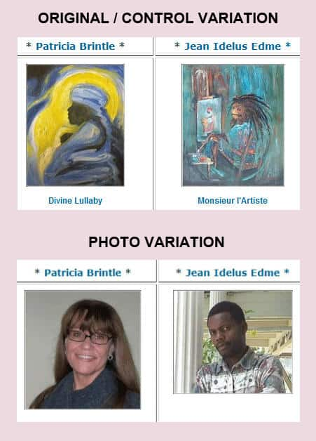 The images of the artists increased conversions in this art case study.