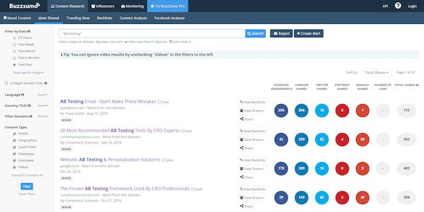 "Tagline examples: BuzzSumo's tagline is found in its interface. ""Find the most shared content"""