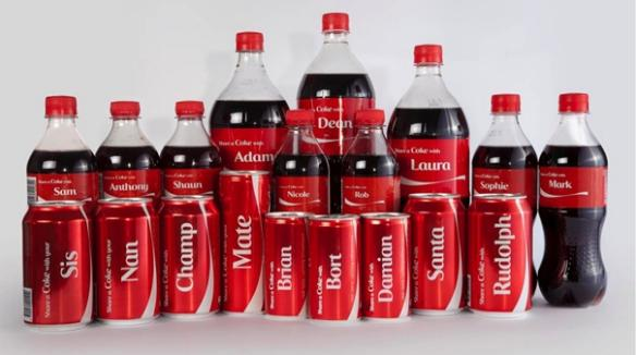 "Best product personalization examples: Coca Cola ""Share a Coke"" campaign has a bottle for everyone"