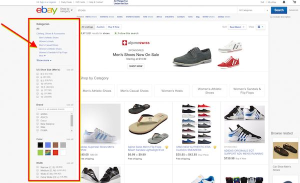 Ecommerce faceted search. Help customers buy from you.