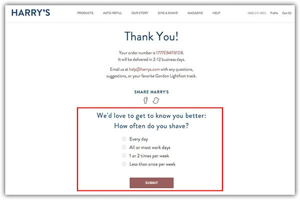 Optimizing your ecommerce Thank You page.