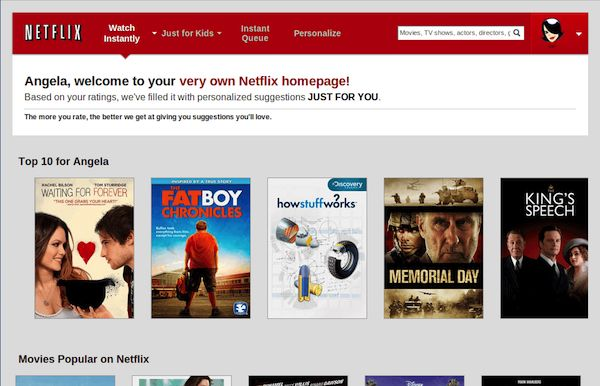 Netflix welcomes individuals by name on their site. Get inspired by the best personalization case studies.