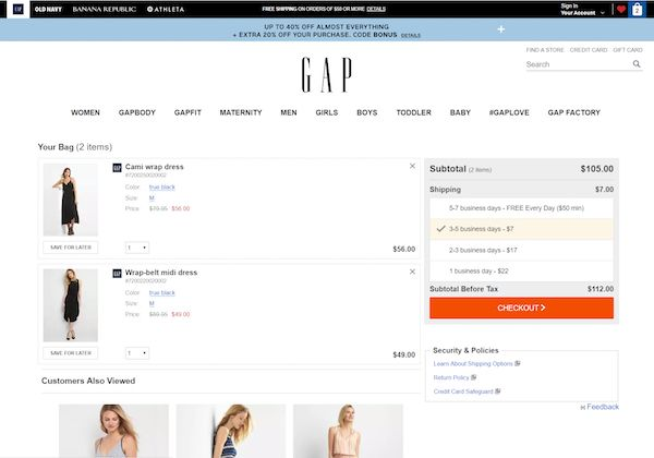 How to improve shopping cart experience with price display.