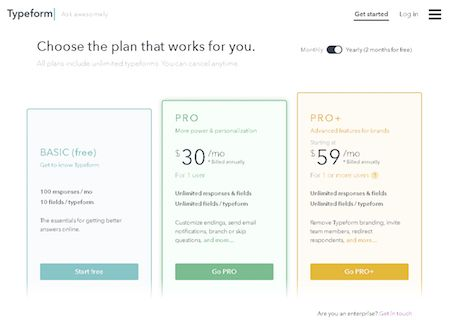 Design ideas for pricing pages.