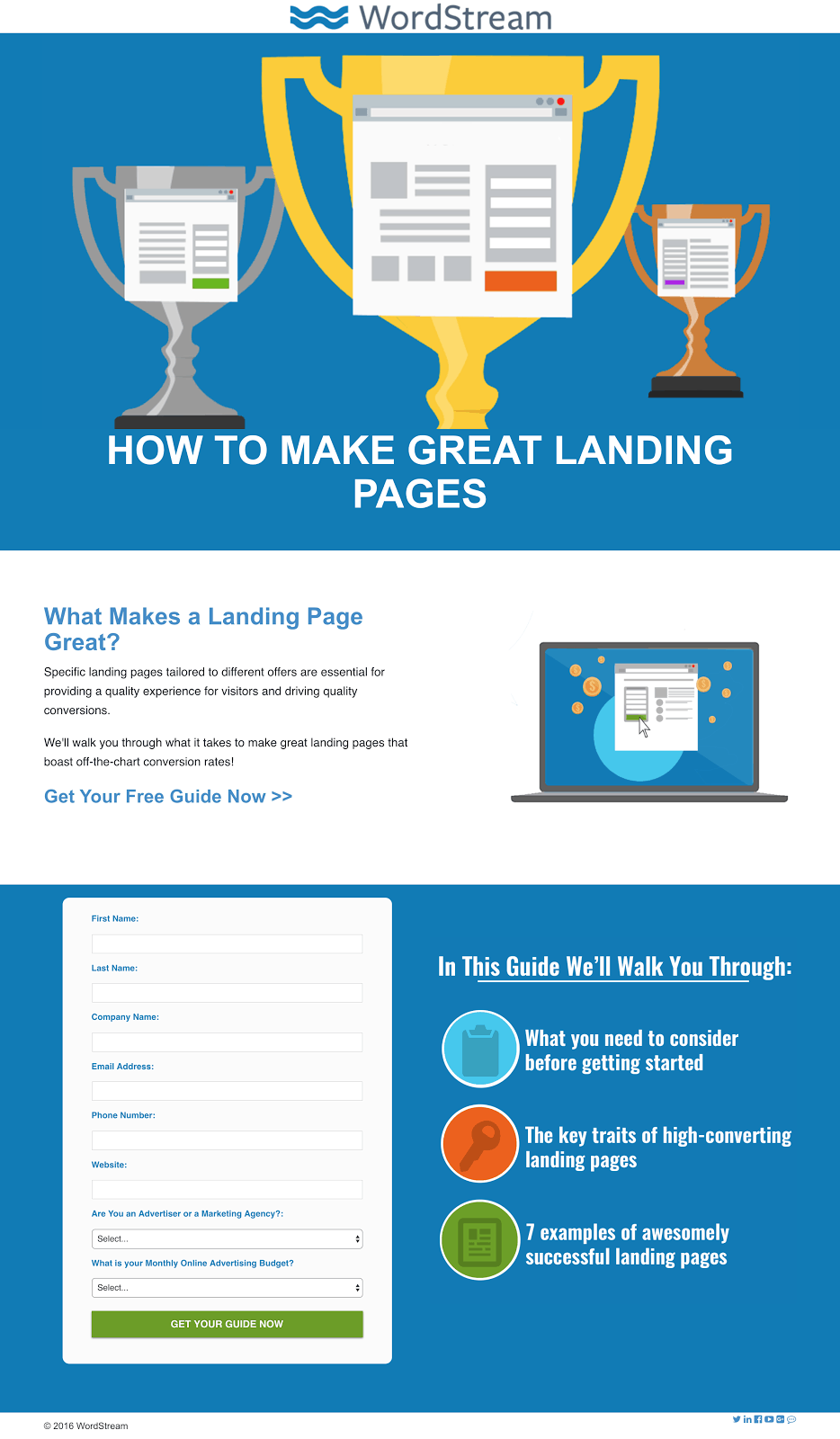 "This page is highly relevant to the search term ""how to create a highly optimised landing page"""